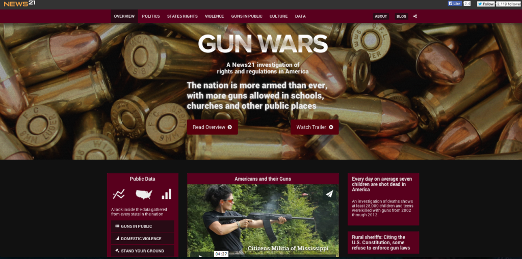 Gun Wars website