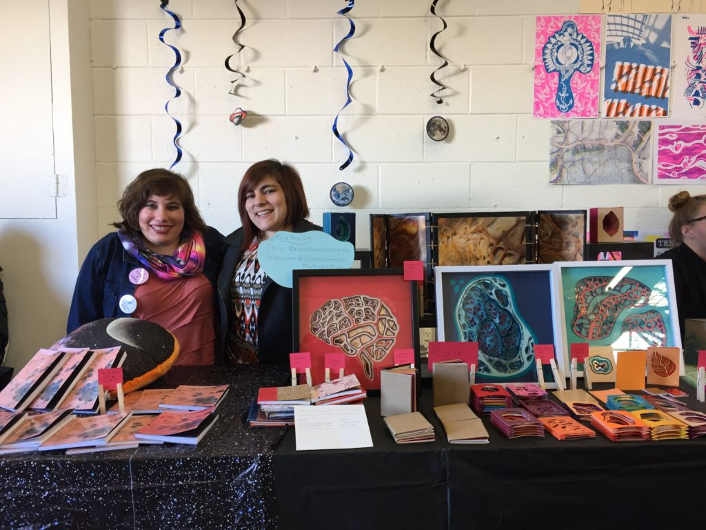 Hannah and I tabled at the first ever DC Art Book Fair in November.