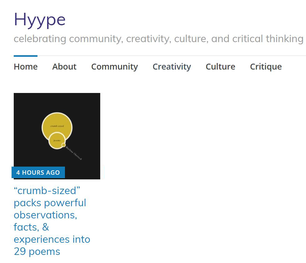My book interview on Hyype Online
